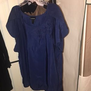 Tops - Lane Bryant blue flowers top